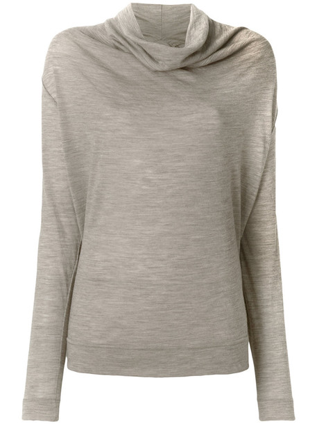 Vivienne Westwood Anglomania - cowl neck top - women - Wool - XS, Nude/Neutrals, Wool