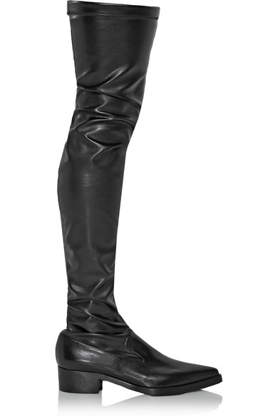 McCartney | Faux stretch-leather over-the-knee boots | NET-A ...