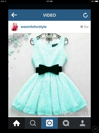 dress mint dress mint bow dress bows lace dress cute