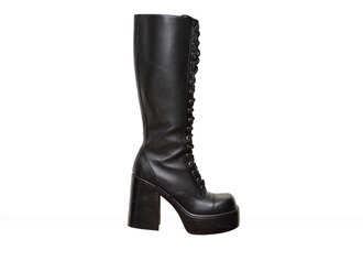shoes goth lace up black platform shoes platform boots black boots vintage boots chunky boots