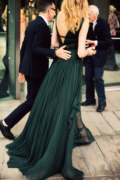 dress prom dress gown long dress prom long prom dresses dark forest forest green pleat ball ball dress
