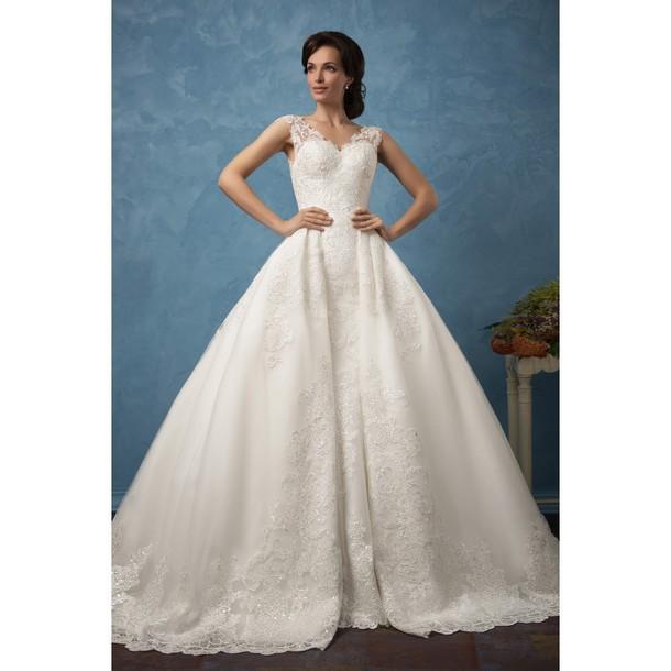 dress, ivory dress, wedding dress - Wheretoget