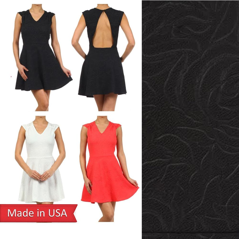 Sexy Summer Casual Party Beach Open Back Fitted A Line Mini Skirt Dress USA