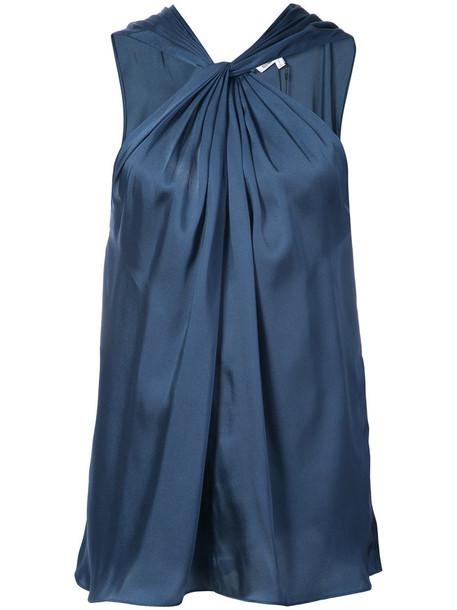 Elizabeth and James blouse women blue top
