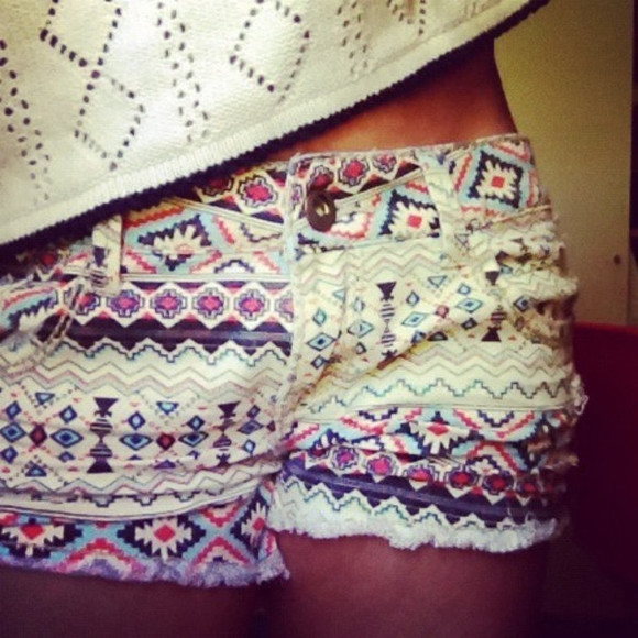aztec short colorful