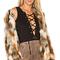 Tularosa x revolve averly faux fur coat in beige & brown from revolve.com