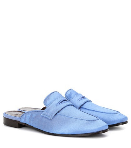 Bougeotte Satin slippers in blue