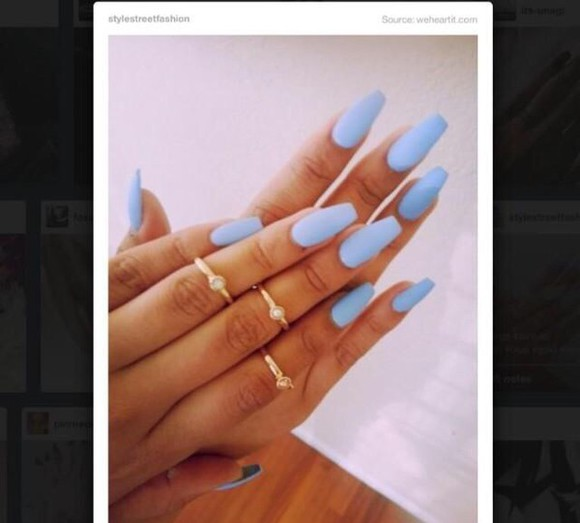 nail polish light blue