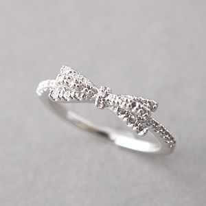 White Gold Ribbon Bow Ring from Kellinsilver.com – bow shaped ring, bow rings jewelry, bow jewellery