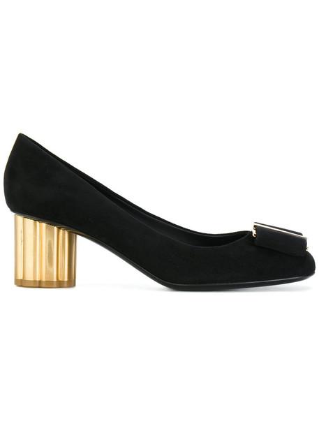 Salvatore Ferragamo women pumps leather black shoes