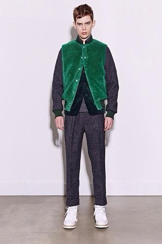 jacket green felt fashion chic streetstyle streetwear urban grunge soft grunge cool