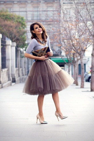 skirt shoes nude fall outfits dress puffy skirt tulle skirt beige reallywant light  brown poofy skirt