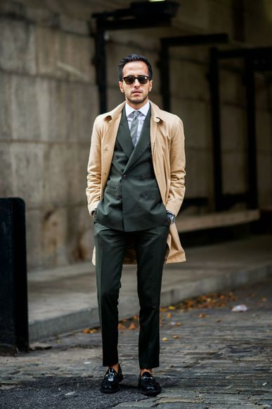jacket trench coat blogger the metro man jewels menswear tailoring forest green