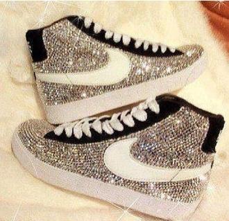 shoes diamonds nike basket