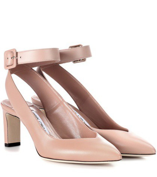 Jimmy Choo pumps leather pink shoes