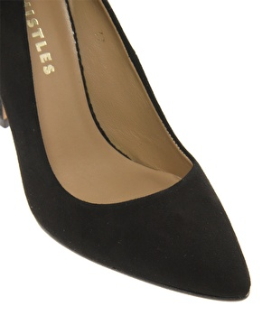 Whistles | Whistles French 75 Black Suede Heeled Court Shoes at ASOS