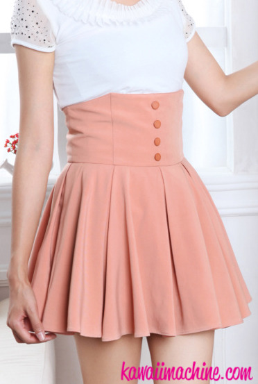 Pastel Fairy Kei Sweet Lolita High Waisted Pleated Skirt S thru XL ...