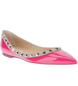 shoes valentino flats women pink
