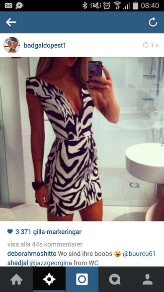 dress zebra print zebra dress