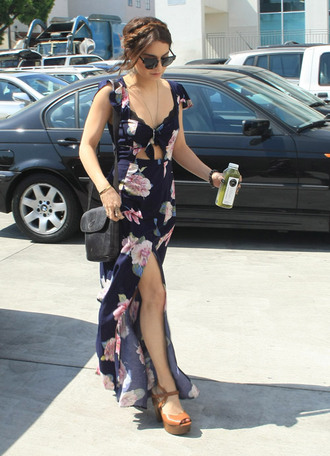 dress maxi dress clothes floral vanessa hudgens floral maxi dress