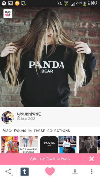 panda prada panda bear