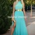 Aliexpress.com : Buy Doukissa Ourania Halter Ruffles Golden Belt High Slit Fashion Mint Green A Line Summer Prom Dresses Pargent Fashion Gowns from Reliable gown suppliers on SFBridal