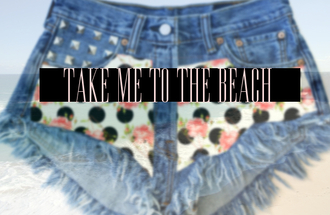 shorts denim shorts high waisted denim shorts high waisted summer beach style festival studded swag excited party new coolf un clothes polkda dots floral aztect ribal