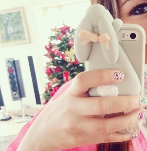 jewels iphone iphone5 iphone5s iphonecase case rabbitcase bunnycase rabbit bunny girly wishlist