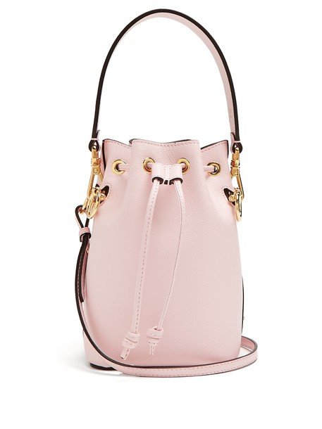 Fendi bag bucket bag leather light pink light pink