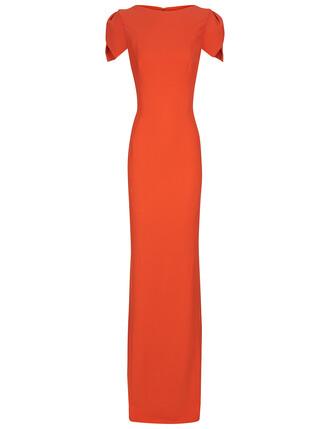 gown orange dress