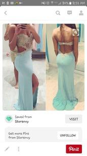 dress,tiffany blue dress