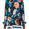 Msgm - floral ribbon detail dress - women - polyester/spandex/elastane/viscose - 40, blue, polyester/spandex/elastane/viscose