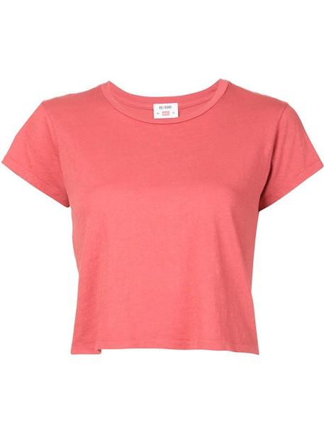 Re/Done t-shirt shirt t-shirt women cotton red top