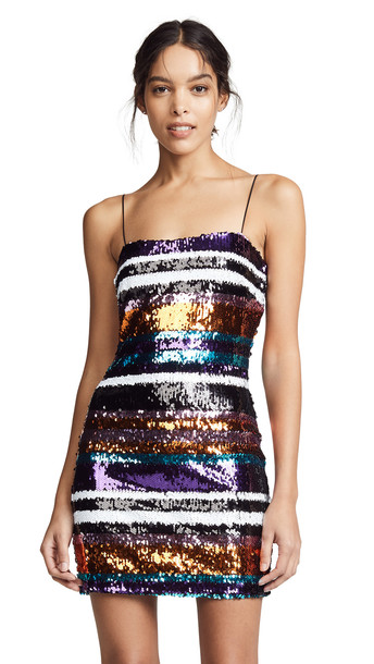 LIKELY Braelynn Dress in black / multi
