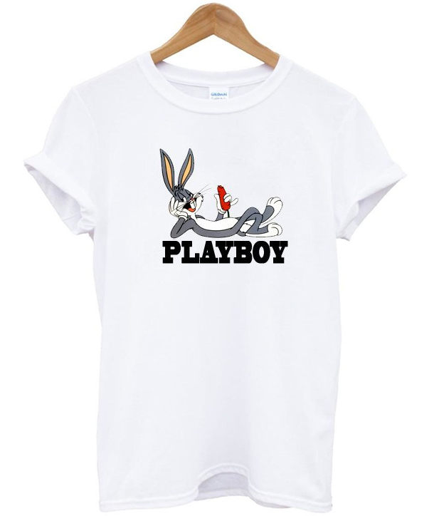 Playboy bugs bunny t shirt for How to get foundation out of a white shirt