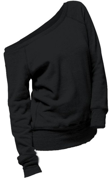 off the shoulder sweater sweater black shirt comfy off the shoulder off the shoulder slouchy sweater