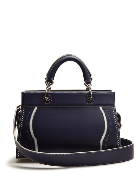 bag leather bag leather navy white