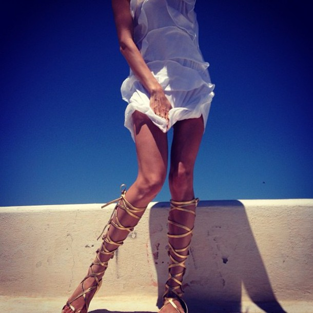e6f8668841d shoes sandals Gold low heel sandals gold beautiful girl dress white lace up  gold sandals gladiators