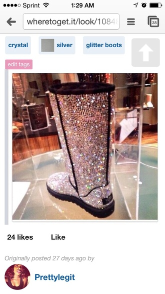 crystal uggs glitter boots