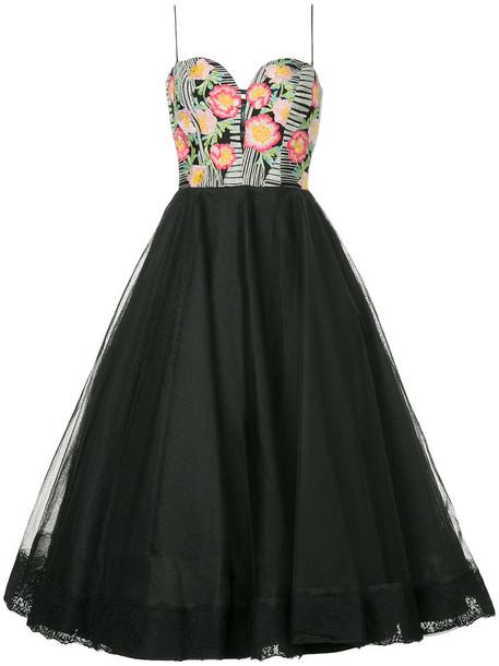 Bambah dress tulle dress women floral black silk
