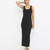 SIMPLE YET EFFECTIVE Maxi Dress in Black at FLYJANE