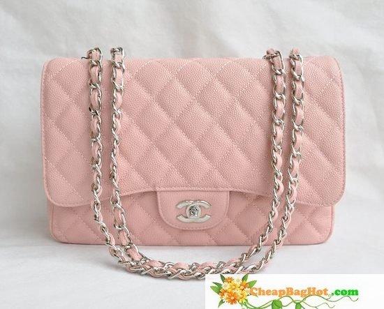 Best Replica Chanel Classic Jumbo Maxi Flap Bag Pink CAVIAR leather silver : www.Showpurses.com