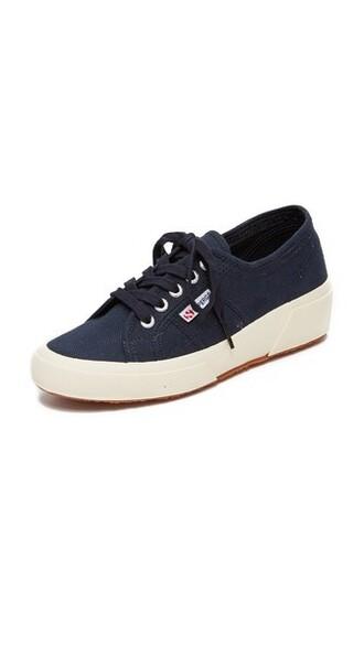sneakers navy wedge sneakers shoes