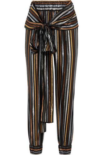 pants metallic silk