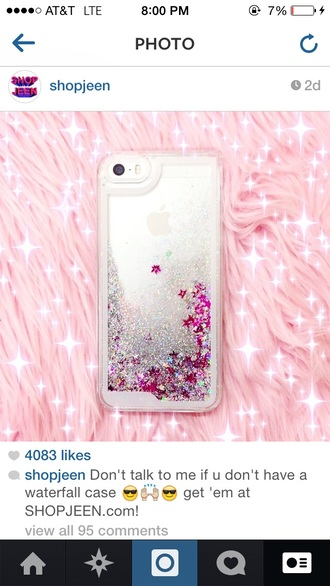 phone cover waterfall case glitter iphone case iphone 5 case