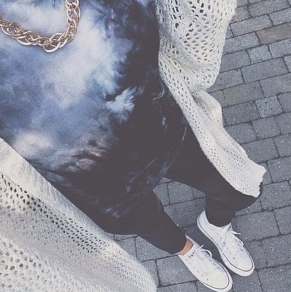 t-shirt dip dyed black and white blouse tie dye top sweater shirt colorful