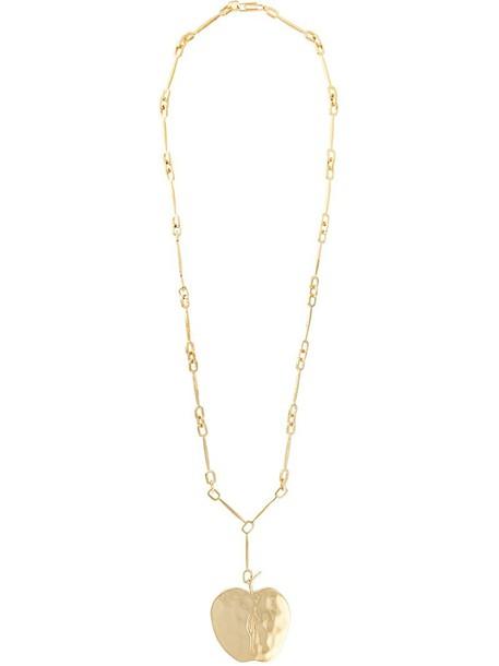 AURELIE BIDERMANN long women necklace gold grey metallic jewels