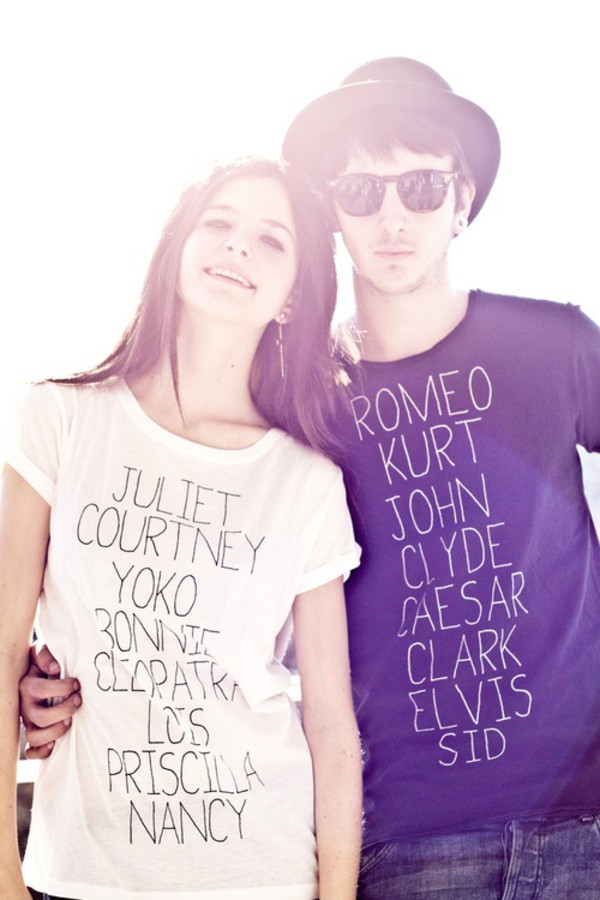 t-shirt quote on it couple
