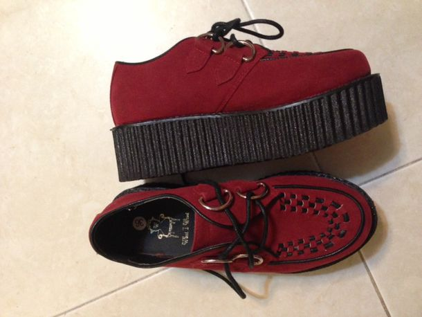 1c9bb57592e shoes creepers red platform shoes grunge it girl shop goth hipster gothic  lolita instagram suede boots