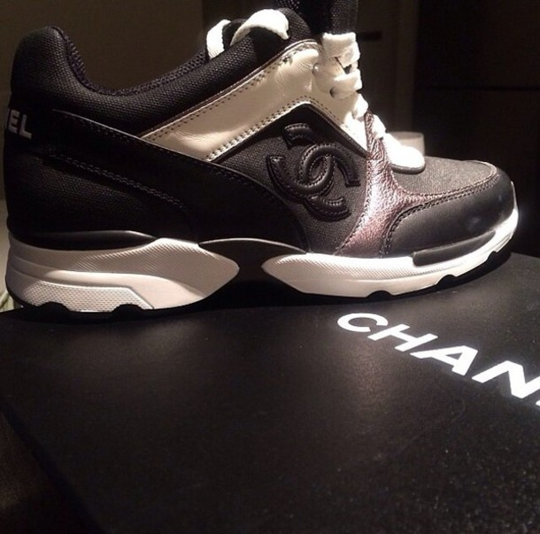 9e9c9e07f38 shoes black and white chanel shoes chanel sneakers black white